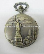 américa de bolsillo reloj estatua de la libertad