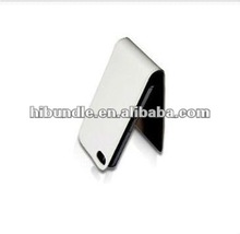 High Quality Flip Leather Case for iPhone 4 4G 4S-white