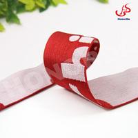 Fashion red jacquard underwear elastic band
