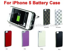 mobile emergency battery charger case 1900mAh for apple iphone 5 color conversion