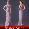 Grace Karin Fashion Strapless Mature Women Dresses Evening Long 2014 CL3139