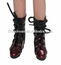 Lovely and hot sale burgundy PU BJD boots, hot sale bjd sneakers, doll collection