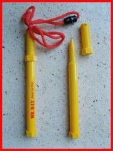 screw shape pen with lanyard