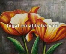100% handmade decorative flowers oil paintings on canvas