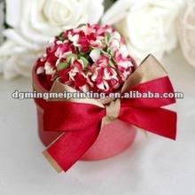 2013 Red wine cylinder wedding favor gift box