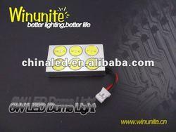 High brightness Auto Car LED Bulb Light/6W Car LED Dome/Ceiling Light