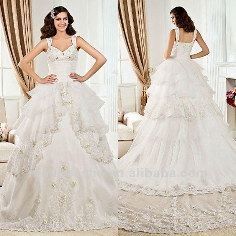 Белые свадебные платья с кружевом