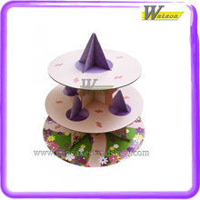 Princess Design Coardboard Cupcake Tower Customized 3 Tiers