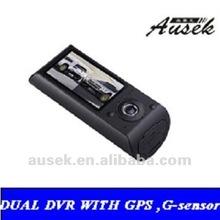 2.7''LCD Front Lens 140 Degrees Back Lens 120 Degrees Dvr Car with GPS