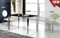 6 seaters dining glass tables furniture A2096-P9078-P9077