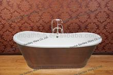 copper skirted cast iron bath tub