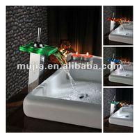 LS11B-H LED face basin faucet square led basin faucet glasses led Chrome faucet