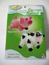 2013 new design(pig & Cow) Creative Diy Animal Craft Kit