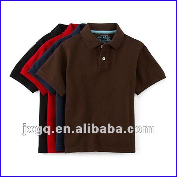 Venta al por mayor barato embroma la camisa de polo en blanco de los niños de la ropa de polo camisas para los niños