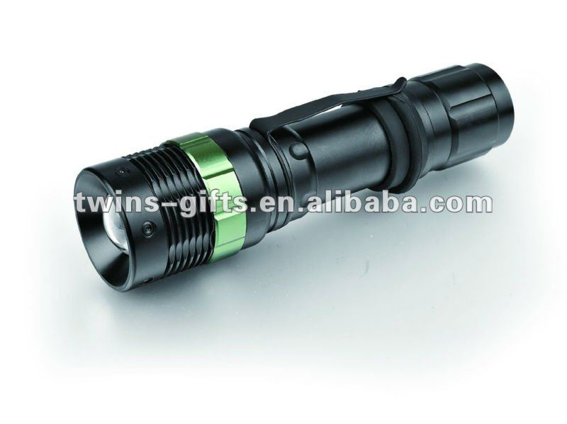 Aluminum high power led focus flashlight