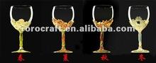 Pewter liga copo de vinho definir vinho cálice de vidro presente do negócio de decoração artesanato e presente