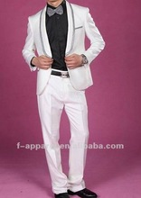 High Fashion Pure white wedding suits for men 2014