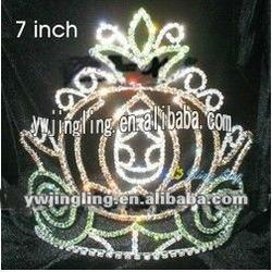 rhinestone pumpkin cake crown