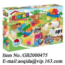 building blocks toys happy farm musical blocks