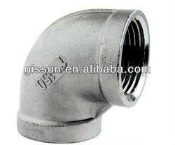 inox asme 316l forged pipe fittings 90 deg elbow