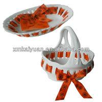 Ceramic wholesale decorative christmas cake plate