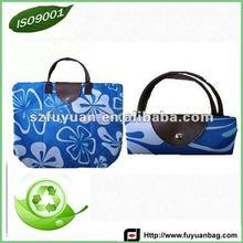 wholesale flower printed foldable shopping bag