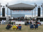 aluminum stage roof system with sound towers