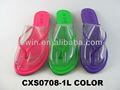 Senhoras colorida simples pu sandálias flip flop/damas chanclas cxs0708-1l sandalias
