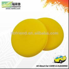 Sponge wax applicator pad
