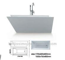 Free standing acrylic bath tub,New style acrylic bathtub BS-6207