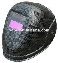 BLACK CARBON FIBER viewing 98x40mm Solar Powered Welding Helmet