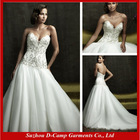 WD-684 Strapless beaded full tulle skirt sexy corset wedding gowns 2016