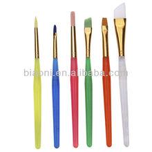 OEM plastic handle nylon brushes set for Kids/painting brush/watercolor acrylic brush