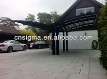 sheet Aluminium caports shelter with polycarbonate sheet