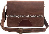 Top Class Genuine leather Retro Shoulder Bag laptop bag for OFFice MEN