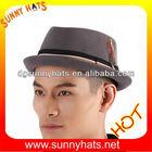 Grey Wool Felt Fedora Hat