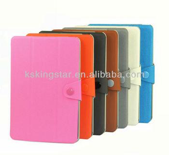 pu leather book case for ipad mini