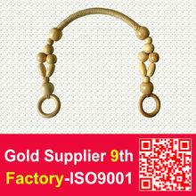 Wooden Bead Handle For Woman Handbag