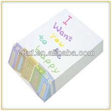 custom stylish note pad slant cut memo pad for brand promotion