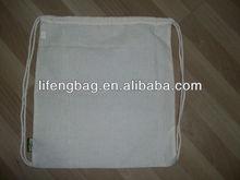 promotional cheap cotton drawstring shopping bag