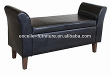 Leather ottoman poufs footstool