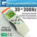 Digital de mano de un solo eje gaussmeter emf elf magnético del sensor de campo gauss metros 30~300hz hecho en taiwán