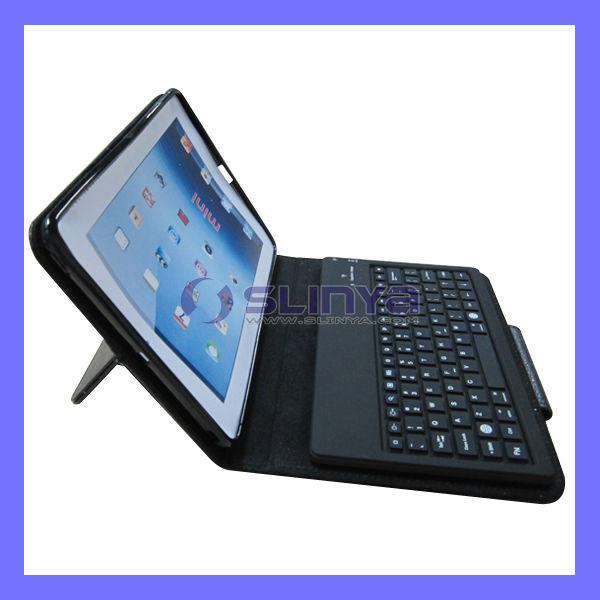 Blutooth 3.0 Connector Leather Bag Keyboard for iPad Mini Wireless Board