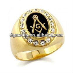 Famous black masonic ring MLRP-1160