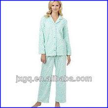 100% polyester satin pajama fashion design women's sleepwear