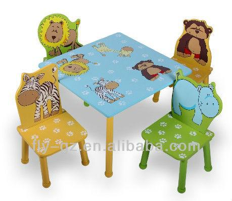 Alto brillo animal de la historieta ni os mesas sillas - Sillas de estudio para ninos ...