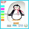 Nouvelle conception d'usine de pingouin de catégorie comestible de silicone de racleur blanc de la pâte