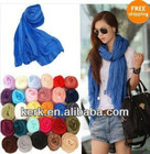 Fashion Smocking Cotton Shawl scarf, Can wear as a Hijab, Stock Many colors Wholesale Price