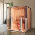 Lux cèdre rouge en bois infrarouge lointain sauna de chambre de la cabine 07-K721