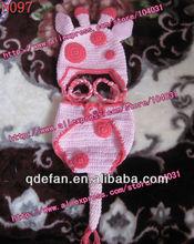 2013 new arrivals! handmade crochet newborn animal giraffe hat and diaper cover set for girls free shipping